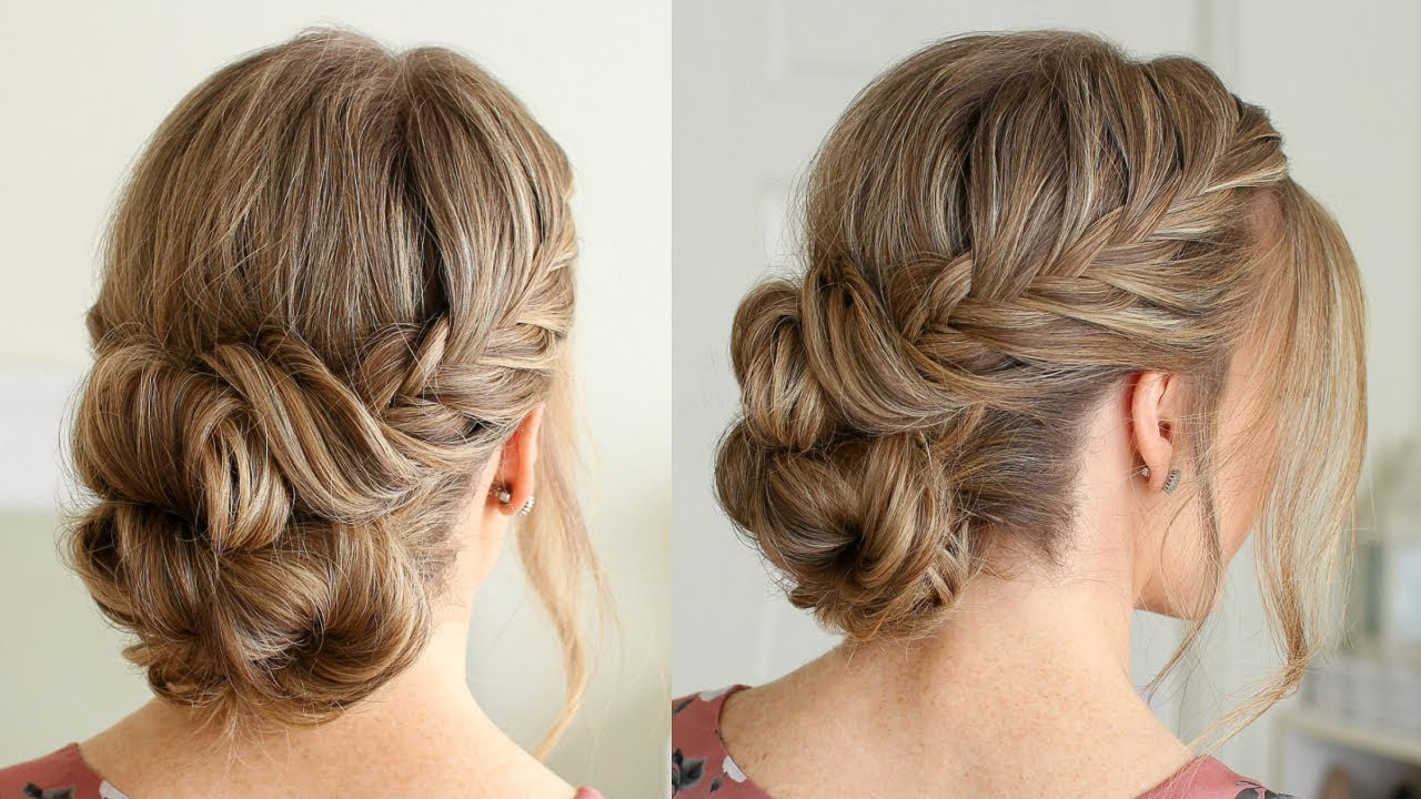 Fishtail French Braid Double Bun (View 7 of 20)