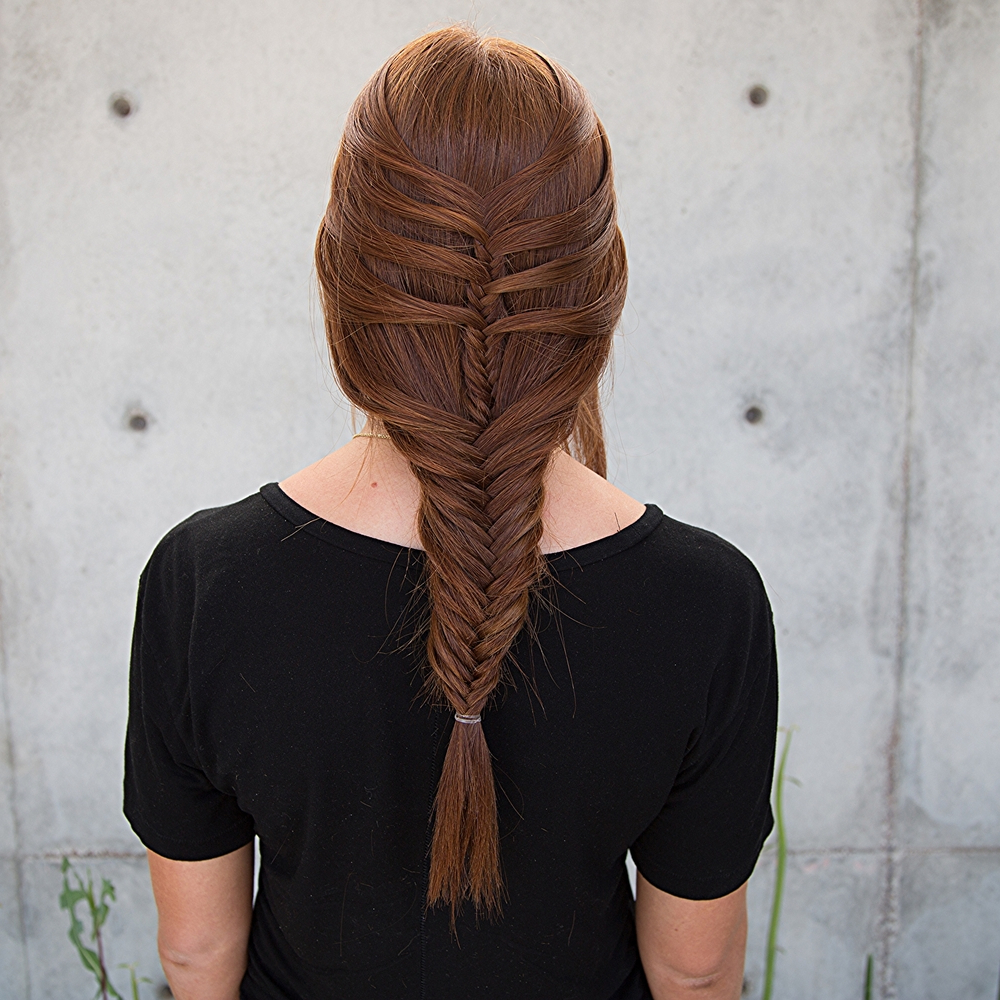 Floating Fishtail Mermaid Braid — Confessions Of A Hairstylist Intended For Preferred Mermaid Braid Hairstyles With A Fishtail (View 8 of 20)