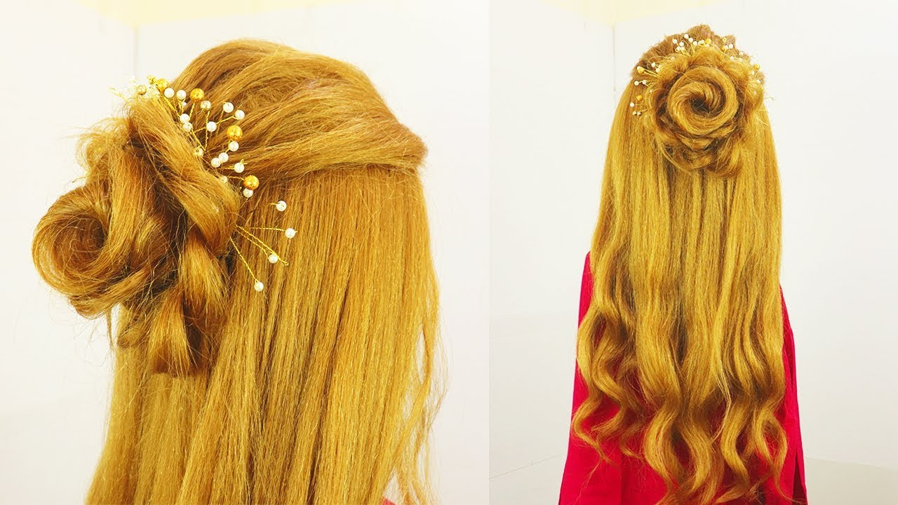 Flower Braid Half Updo Hairstyle (View 12 of 20)