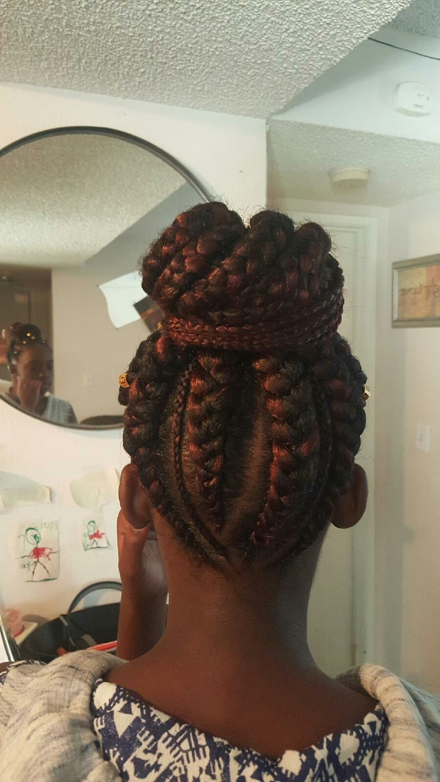 Ghana Braid Ponytail Into Bun (View 9 of 20)