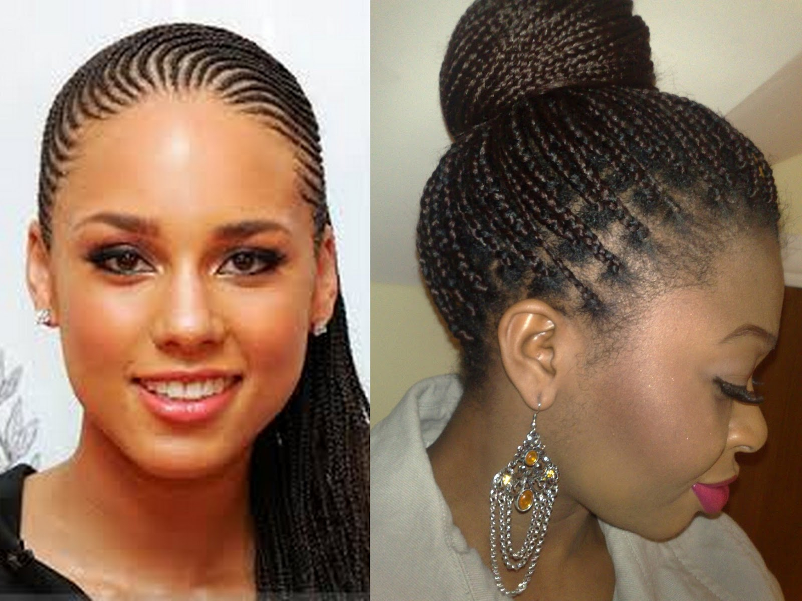Ghana Braids: Check Out These 20 Most Beautiful Styles In Preferred Skinny Curvy Cornrow Braided Hairstyles (View 18 of 20)
