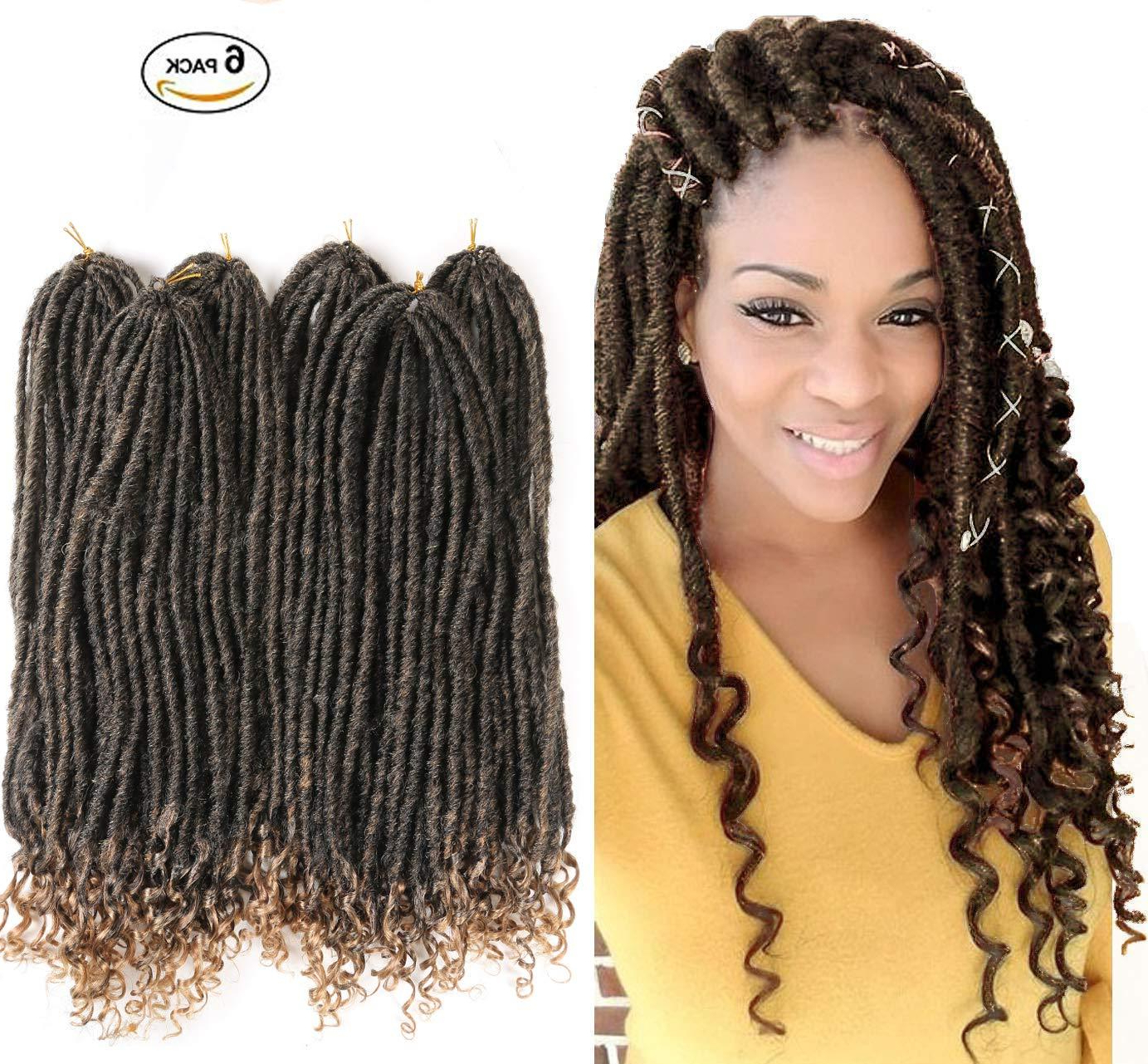 Goddess Locs Crochet Twist Hair With Curly Ends 24Strands/pack Braiding  Hair Extensions Dreadlocks Crochet Locs 1Packs/lot 18Inches In Current Twists Micro Braid Hairstyles With Curls (View 8 of 20)