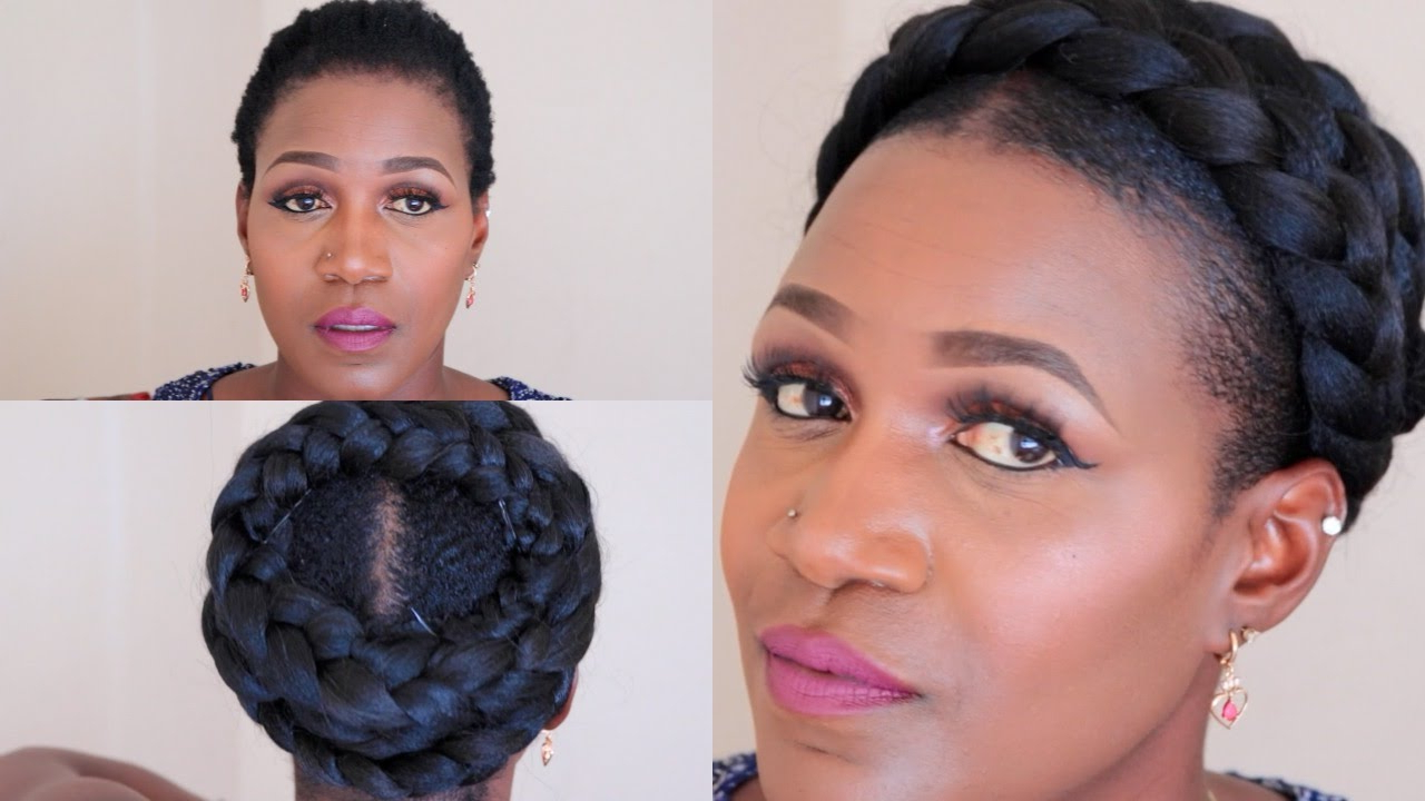 Grecian Goddess Braid On Short Natural Hair For 2019 Faux Halo Braided Hairstyles For Short Hair (View 3 of 20)