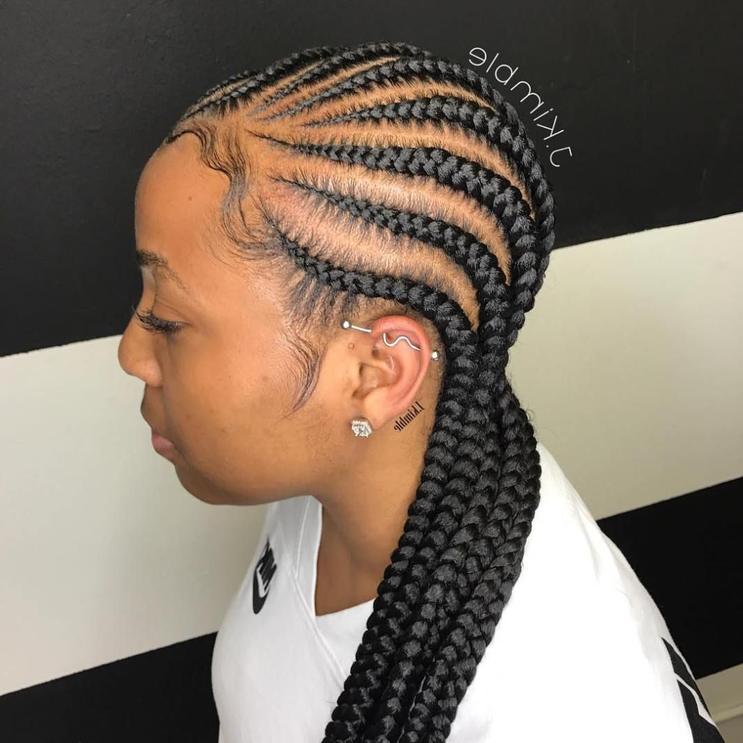 Hair In 2019 Intended For Latest Straight Backs Braided Hairstyles (View 15 of 20)