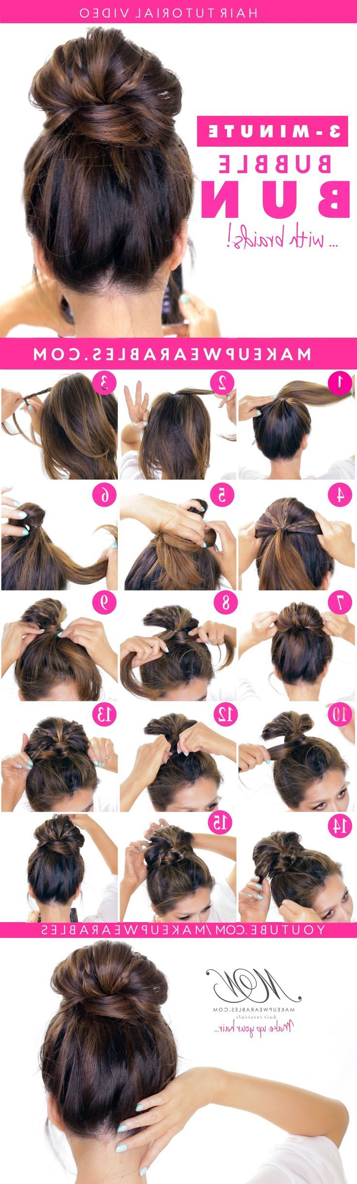 Featured Photo of Bubble Pony Updo Hairstyles