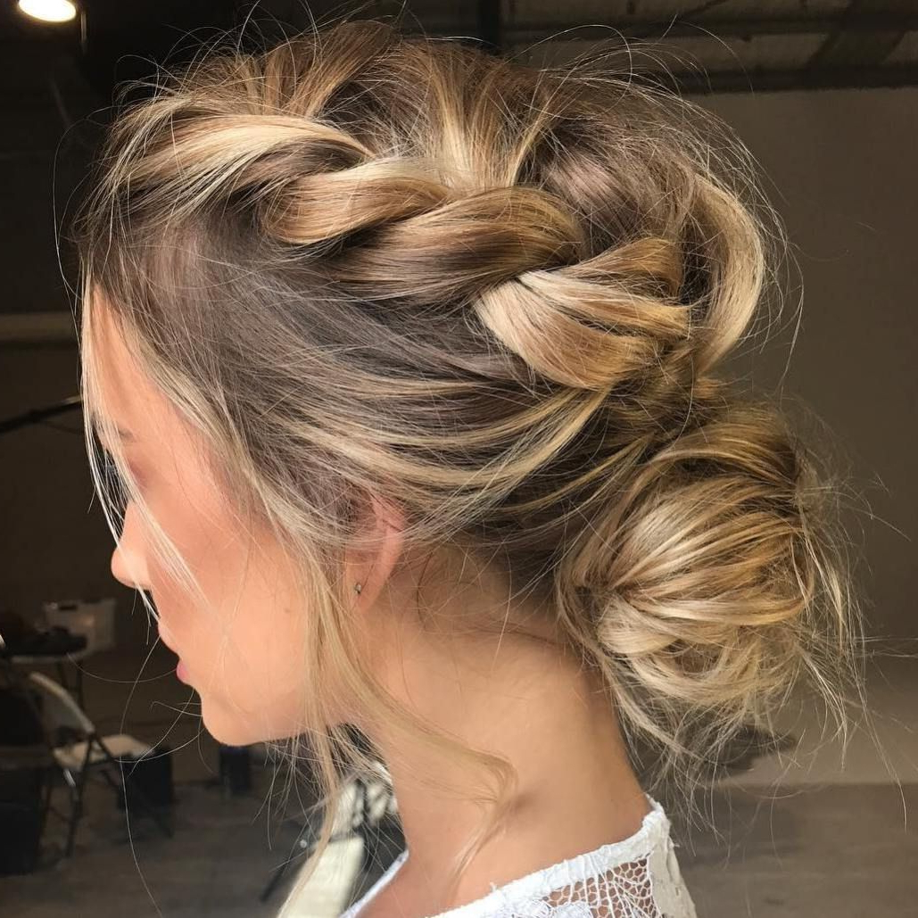 Hair Pertaining To Favorite Low Braided Bun Updo Hairstyles (Gallery 6 of 20)