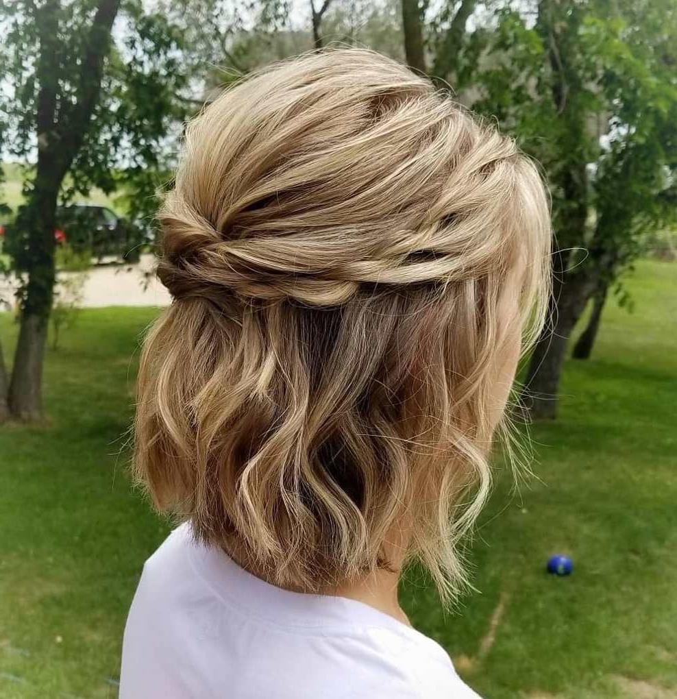 Hair Regarding Most Popular Rolled Half Updo Bob Braid Hairstyles (Gallery 6 of 20)