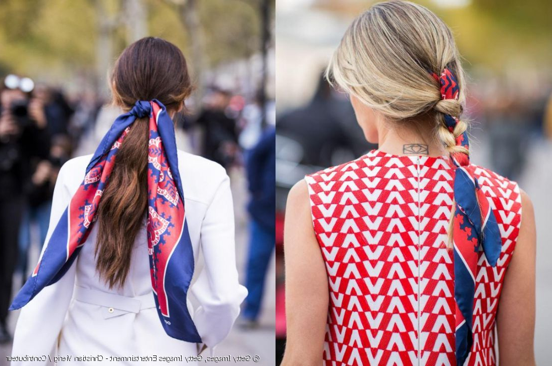 Hair Scarf Challenge: French Braid Or Low Ponytail? In Most Recently Released Billowing Ponytail Braided Hairstyles (View 7 of 20)