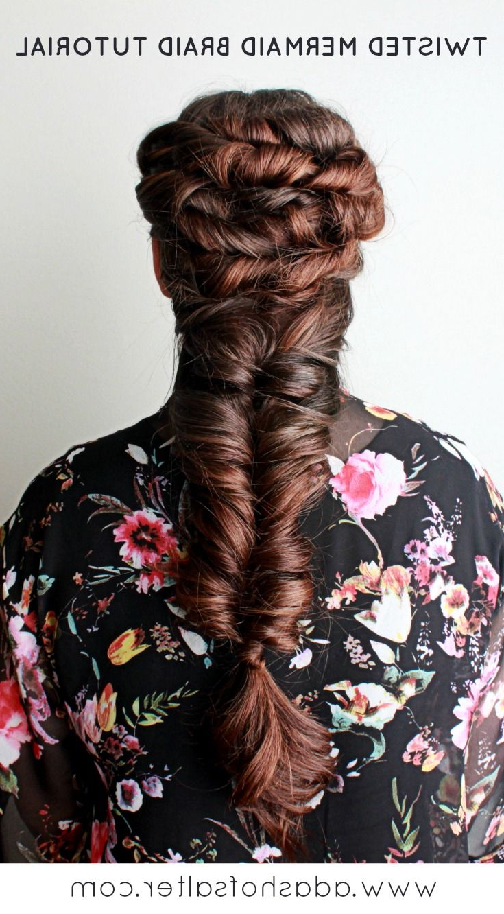 Hair Styles, Braids In Most Up To Date Twisted Mermaid Braid Hairstyles (View 4 of 20)