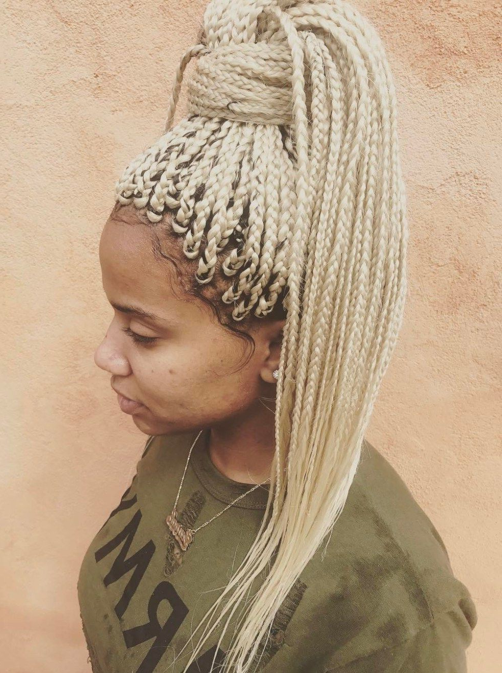 Hair Styles In 2019 In Famous Shaved Platinum Hairstyles With Micro Braids (View 13 of 20)