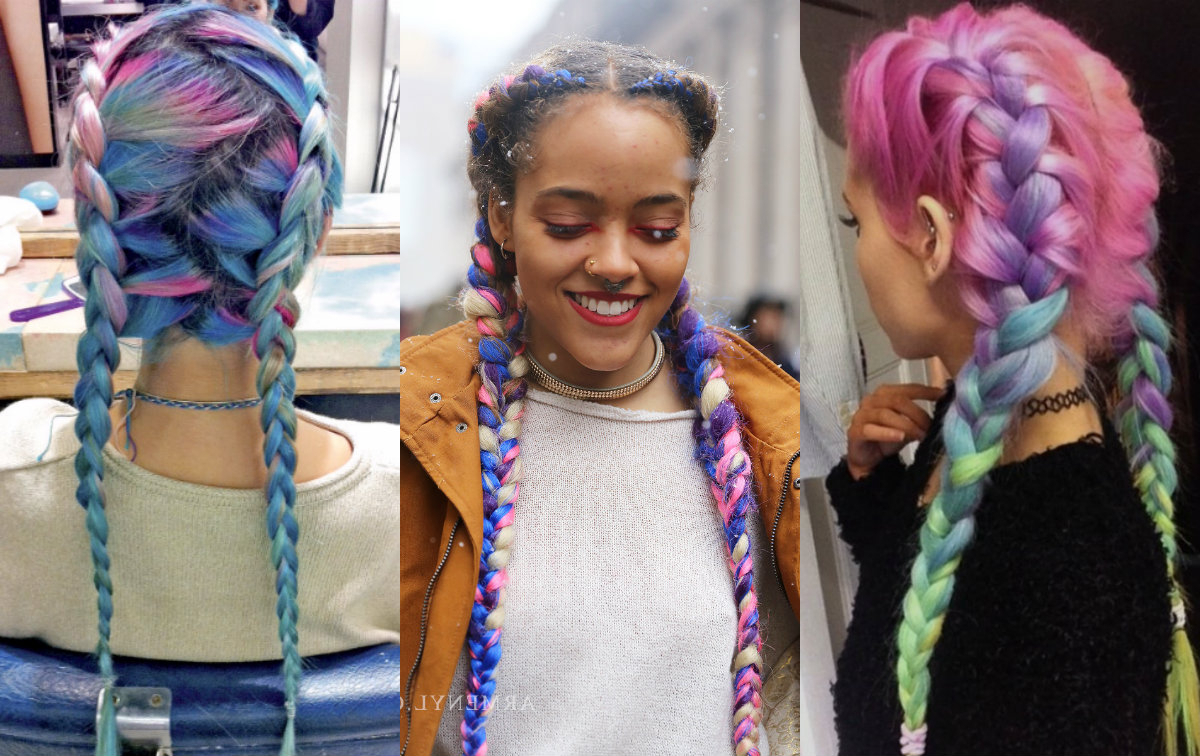 Hairdrome Pertaining To Most Recently Released Multicolored Extension Braid Hairstyles (View 4 of 20)