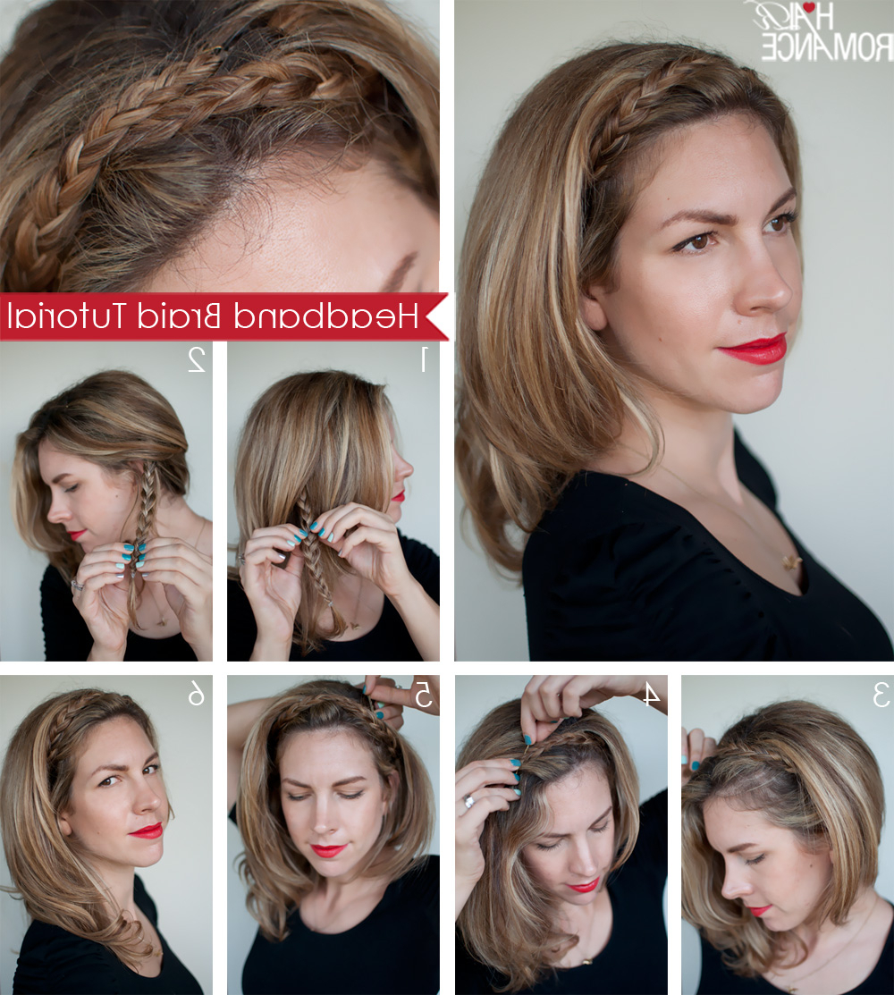 Hairstyle Tutorial: Easy Braided Headband – Hair Romance For Most Recent Braid Hairstyles With Headband (View 9 of 20)