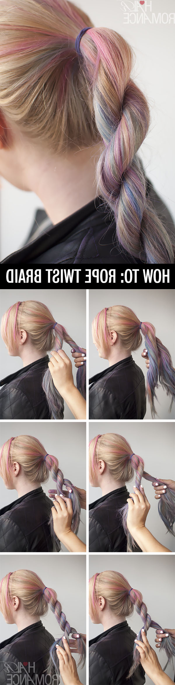 Hairstyle Tutorial – How To Do A Rope Twist Braid – Hair Romance With Regard To Fashionable Intricate Rope Braid Ponytail Hairstyles (Gallery 19 of 20)