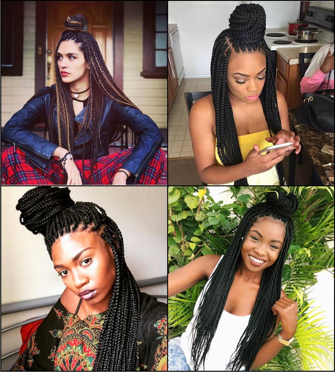 Hairstyle Woman With Recent Dookie Braid Hairstyles In Half Up Pony (View 14 of 20)