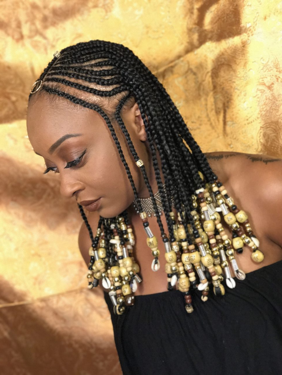 Hairstyles : African Braid Hairstyles Black American Braided With Most Up To Date Short Beaded Bob Hairstyles (View 13 of 20)