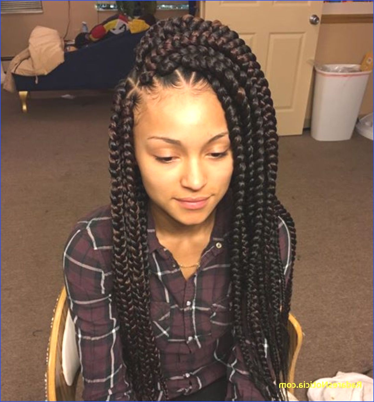 Hairstyles : Big Box Braids Hairstyles Magnificent For Kids Pertaining To Fashionable Big Bun Braided Hairstyles (Gallery 19 of 20)