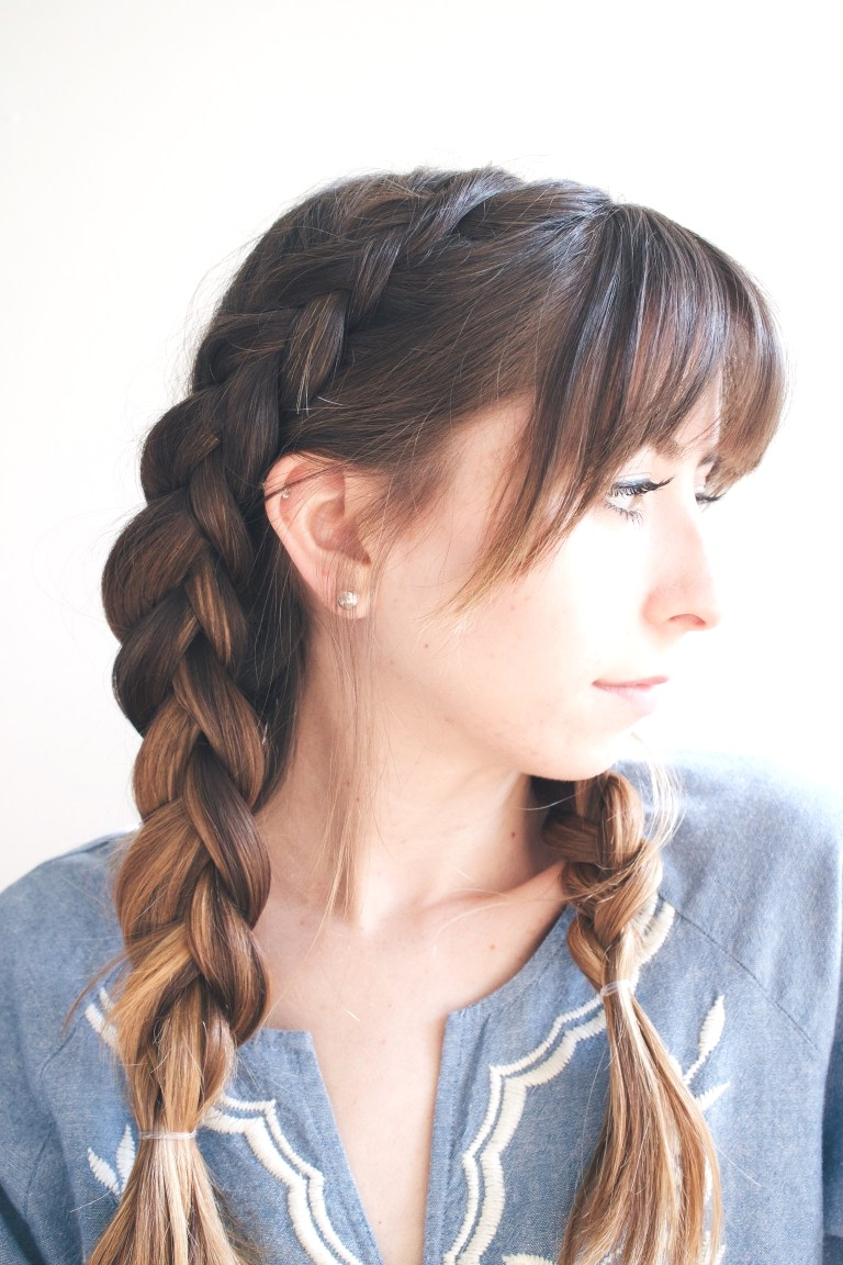 Hairstyles : Braided Hairstyles With Bangs Glamorous 25 Cute Inside Most Recent Braid Hairstyles With Braiding Bangs (View 16 of 20)