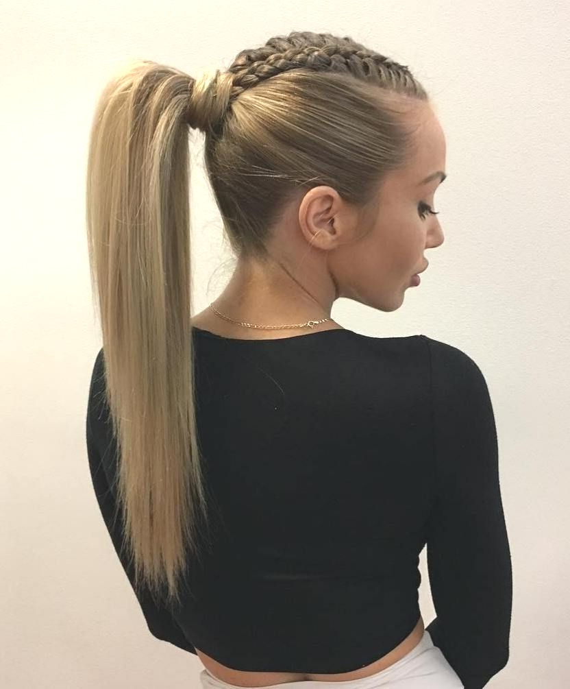 Hairstyles : Braided High Ponytail Hairstyles Charming 19 Inside Best And Newest High Ponytail Braided Hairstyles (View 11 of 20)