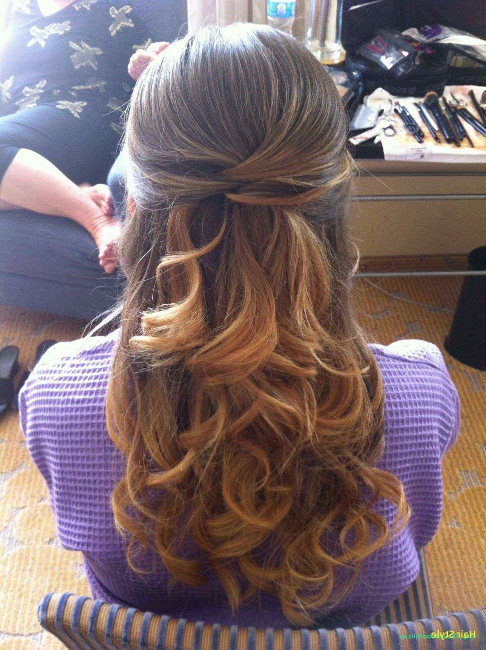 Hairstyles : Curls Half Up Hairstyle Adorable Fashion Within Well Known Curled Half Up Hairstyles (Gallery 9 of 20)