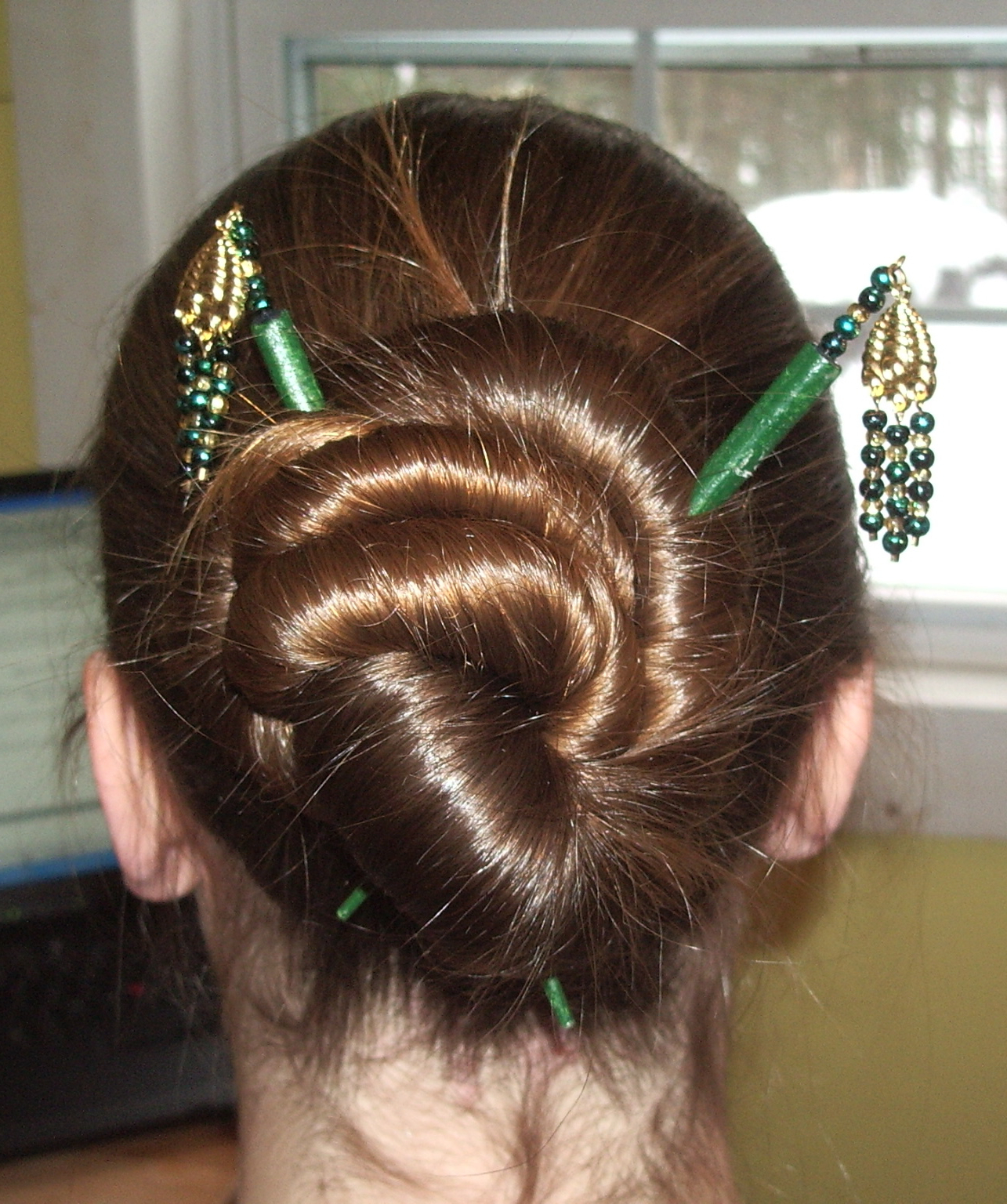 Hairstyles For Hair Sticks: 9 Steps (with Pictures) Inside Widely Used Cinnamon Bun Braided Hairstyles (View 14 of 20)