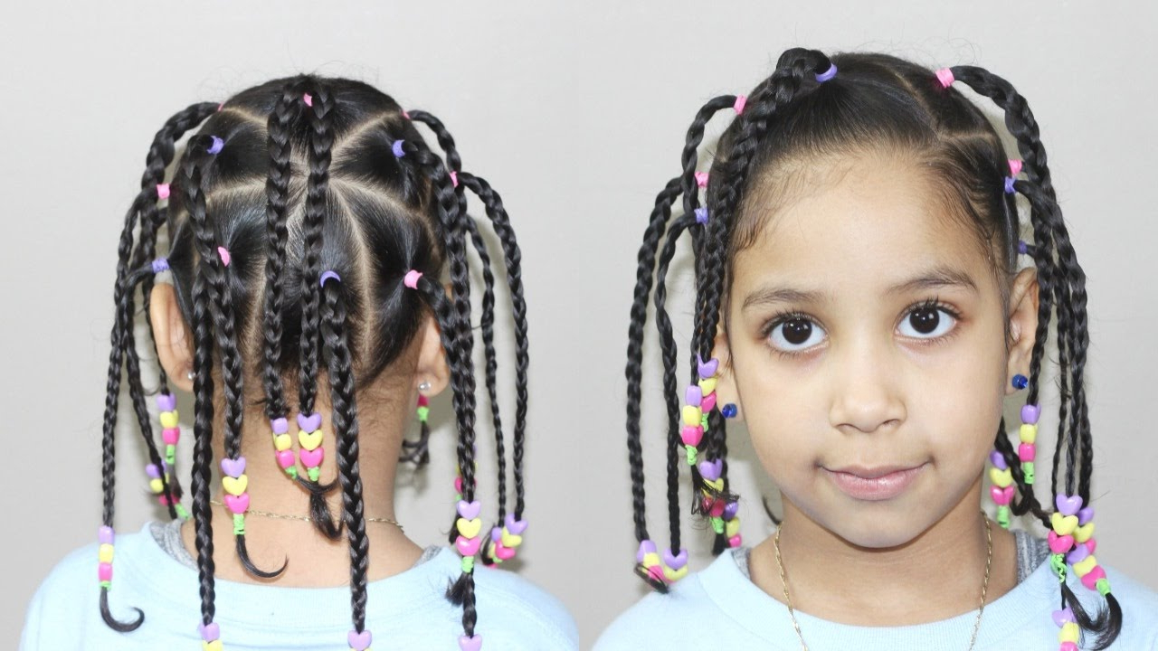 Hairstyles For Kids With Well Liked Beaded Pigtails Braided Hairstyles (View 18 of 20)