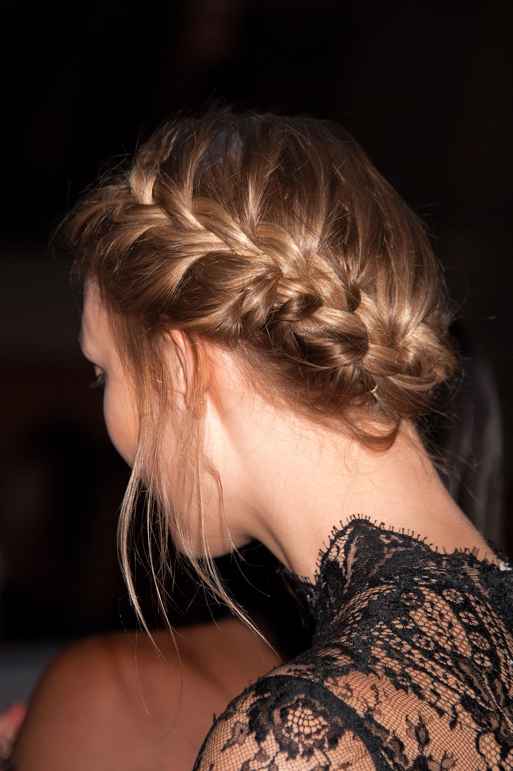 Hairstyles Throughout 2019 French Braid Low Chignon Hairstyles (View 15 of 20)