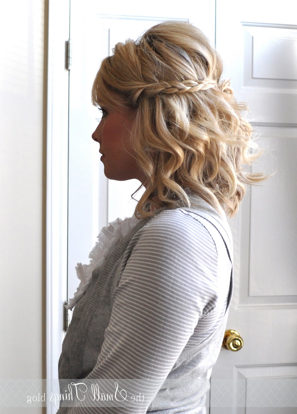 Half Up Braids – The Small Things Blog With Most Up To Date Curled Half Up Hairstyles (View 17 of 20)