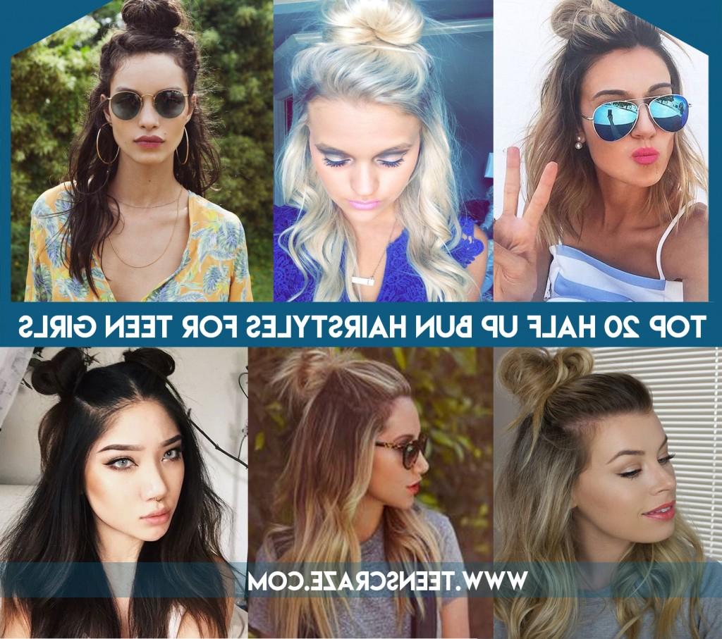 Half Up Bun For Teen Girls 20 Latest Half Bun Hairstyles 2017 With Recent Simple Half Bun Hairstyles (View 15 of 20)