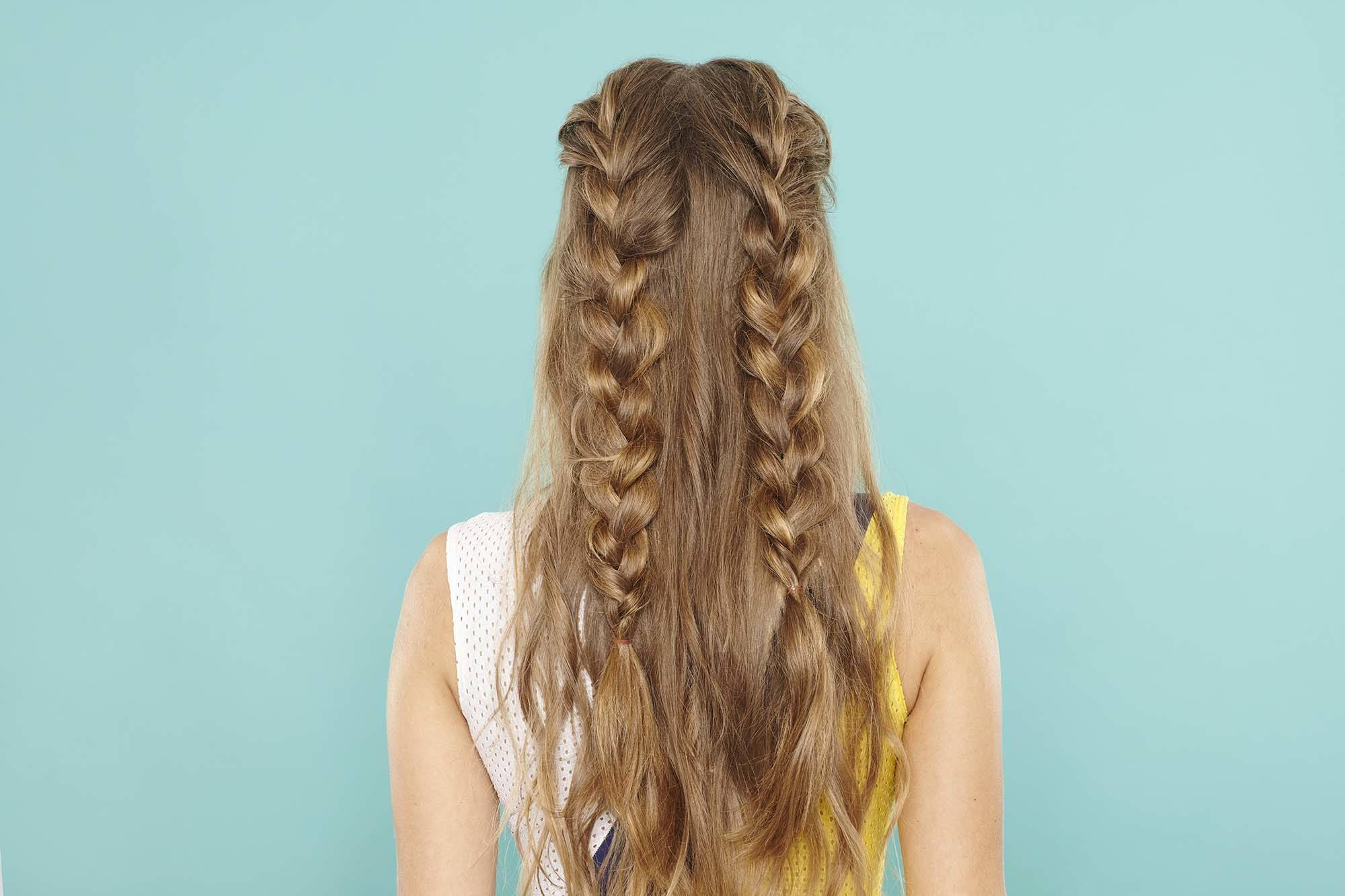 Half Up, Half Down Braid: Master The Look 6 Easy Steps With With Latest Half Up, Half Down Braid Hairstyles (View 10 of 20)