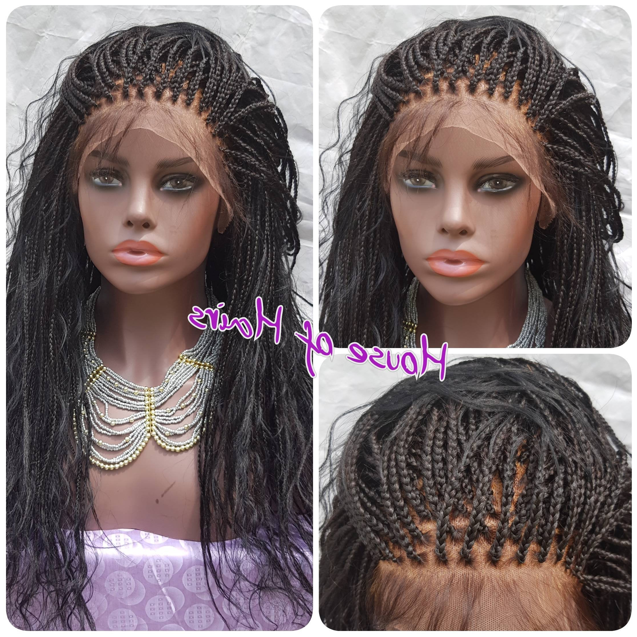 Handmade Glueless Boho Mermaid Braids Medium Box Braids 13X6 Within Well Known Mermaid'S Hairpiece Braid Hairstyles (View 8 of 20)