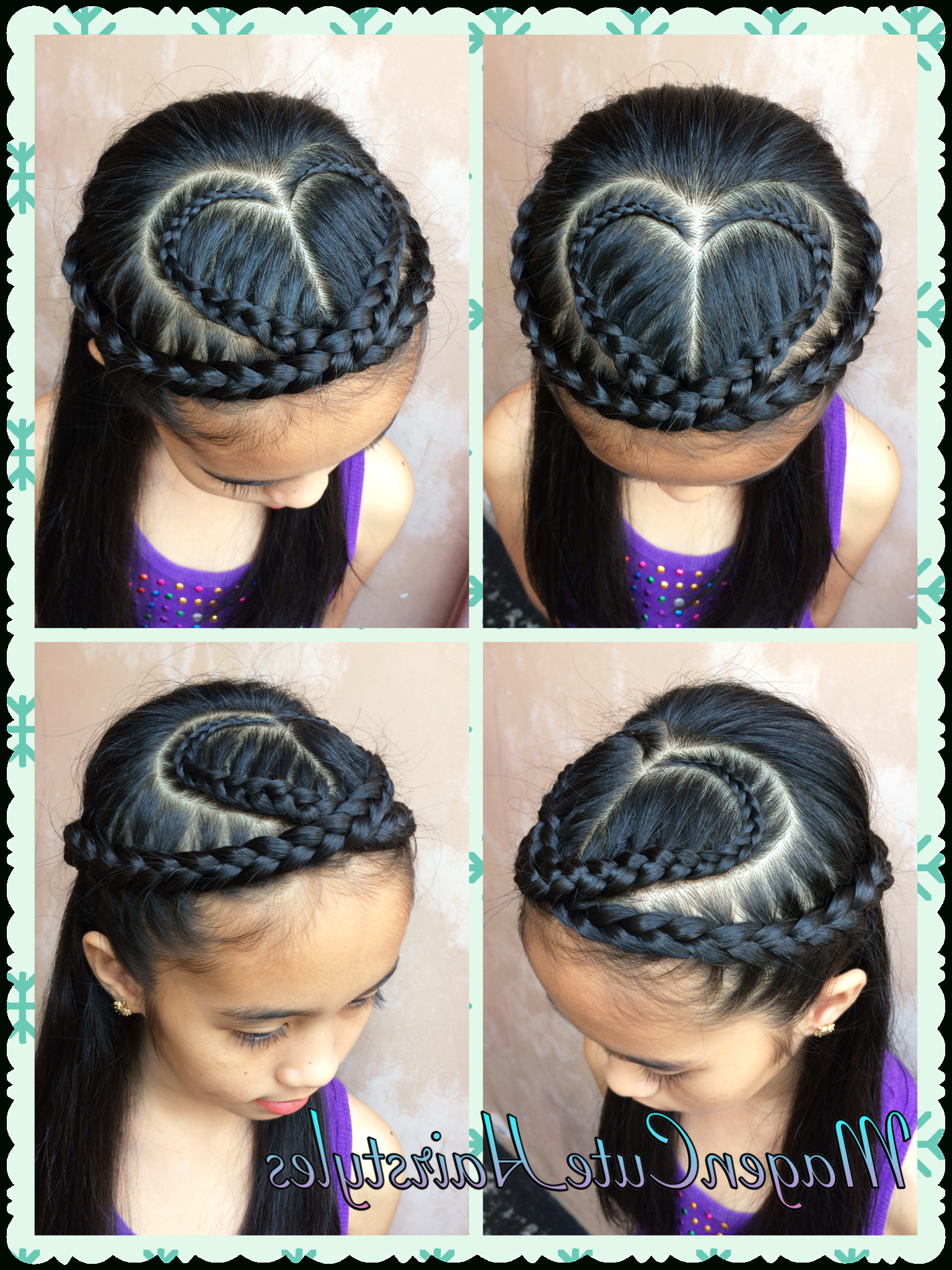 Heart Shape Dutch Lace Braid Intended For 2019 Heart Shaped Fishtail Under Braid Hairstyles (View 12 of 20)