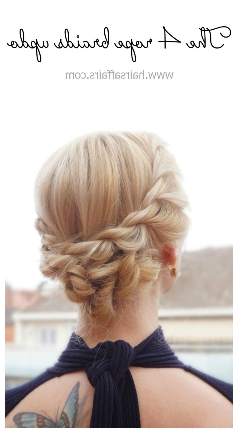 Heat Proof Hairstyles – 3 Easy Rope Braid Updos – Hairsaffairs Within Favorite Messy Rope Braid Updo Hairstyles (Gallery 14 of 20)