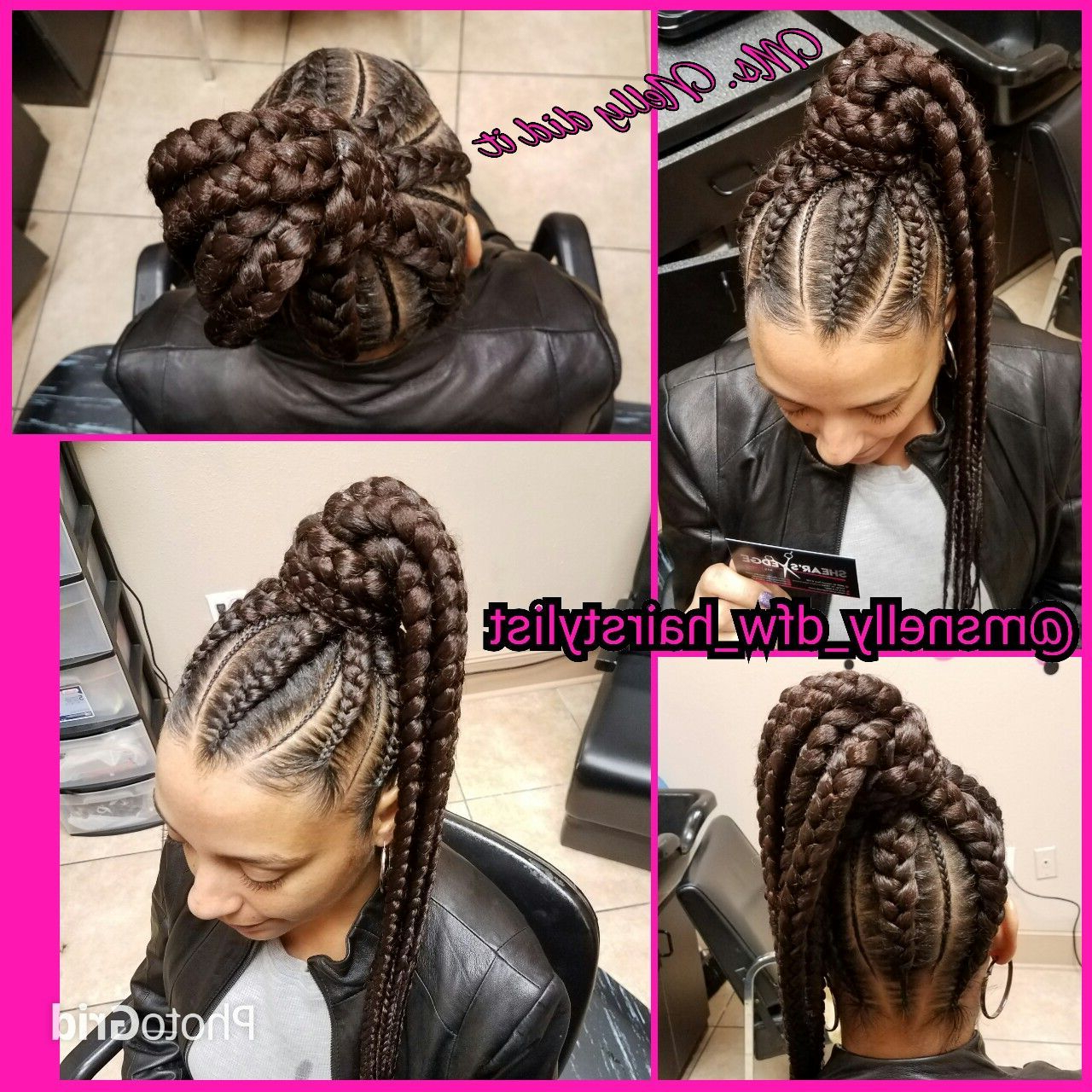 High Ponytail Feeder Braids, Small Braids In Between Pertaining To Trendy High Ponytail Braided Hairstyles (Gallery 2 of 20)