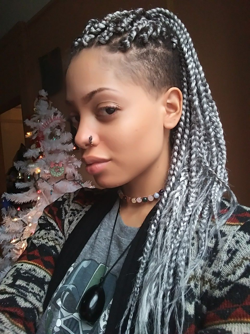 Featured Photo of Shaved Platinum Hairstyles With Micro Braids