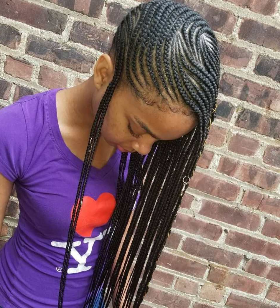 Featured Photo of Full Scalp Patterned Side Braided Hairstyles