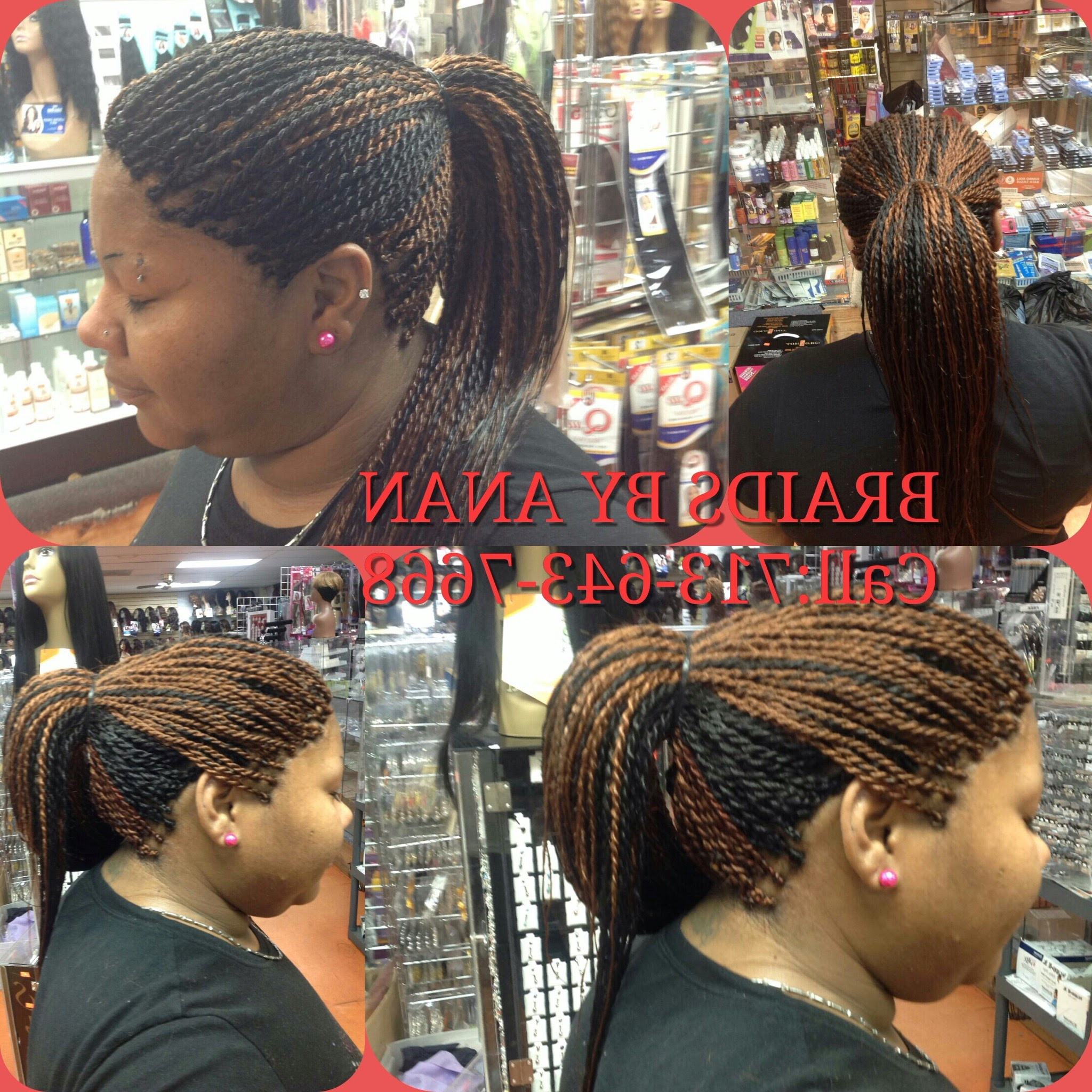 Houston, Tx – Braidsanan Within Well Liked Tree Micro Braids With Side Undercut (View 14 of 20)