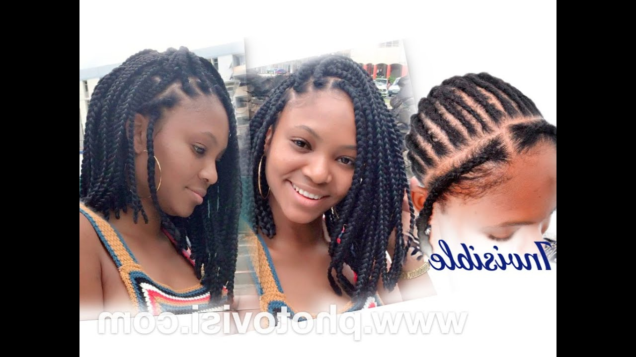 How To Asymmetric Crochet Bob Box Braid Regarding Latest Asymmetrical Bob Braid Hairstyles (Gallery 10 of 20)