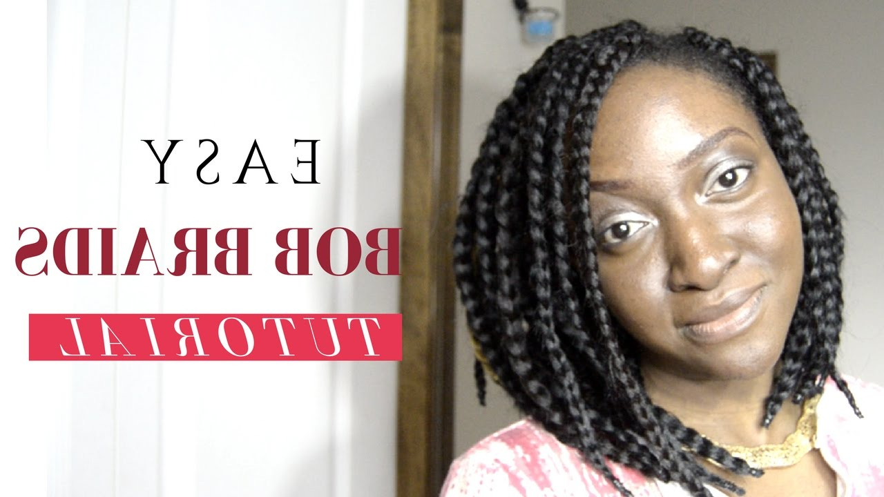How To Bob Braids (Tutorial) – No Burning! Pertaining To Most Up To Date Bumped And Bobbed Braided Hairstyles (View 11 of 20)