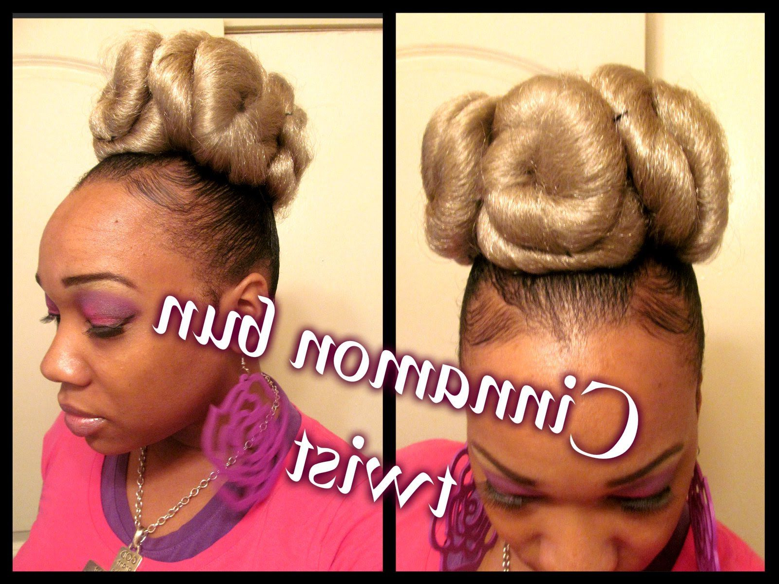"How To"" Cinnamon Roll Twist Bunn"" (hair Tutorial) (View 3 of 20)"