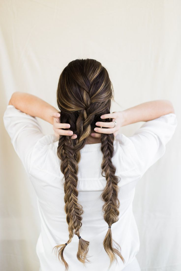 How To Create A Thick And Chunky Double Fishtail Braids For Recent Thick Two Side Fishtails Braid Hairstyles (Gallery 14 of 20)