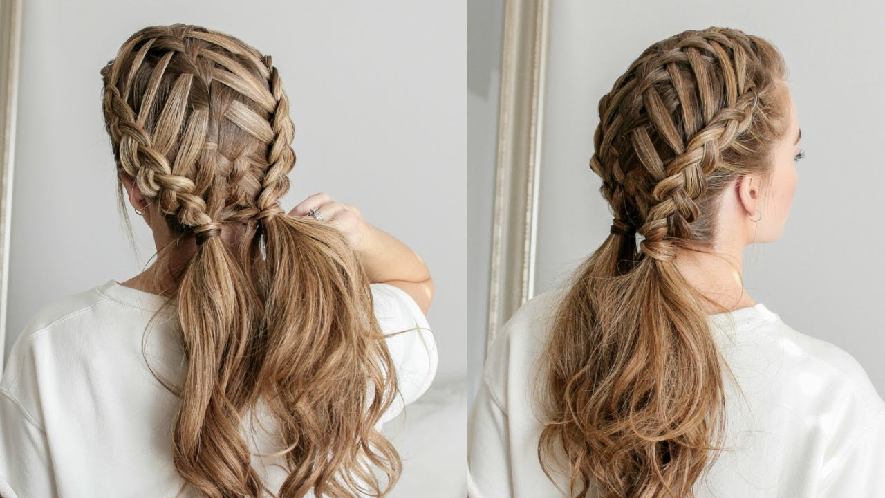 How To Create A Waterfall Braid For Beginners – Easy Braided Within Current Waterfall Braids Hairstyles (View 6 of 20)