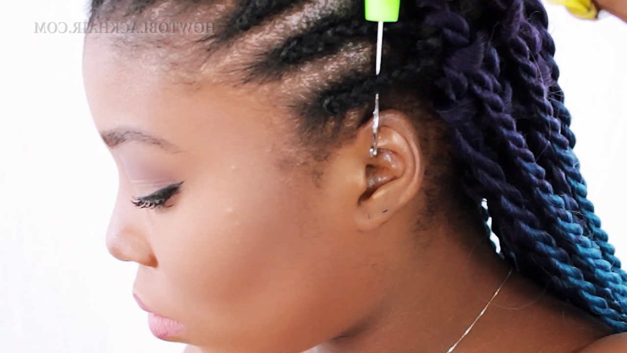 How To: Crochet Braid Senegalese Twist For Beginners! (Stepstep) For 2019 Pastel Colored Updo Hairstyles With Rope Twist (Gallery 2 of 20)