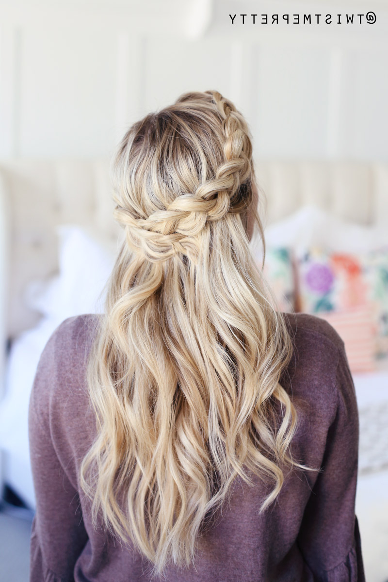 How To Do A Crown Braid (2 Ways) – Twist Me Pretty Pertaining To Recent Crown Braid Hairstyles (Gallery 9 of 20)