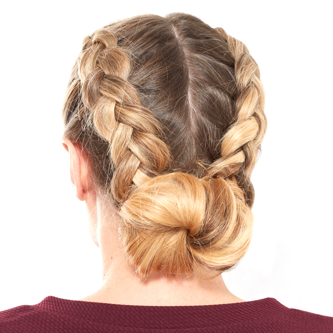 How To Do A Double Dutch Braided Bun (Gallery 12 of 20)