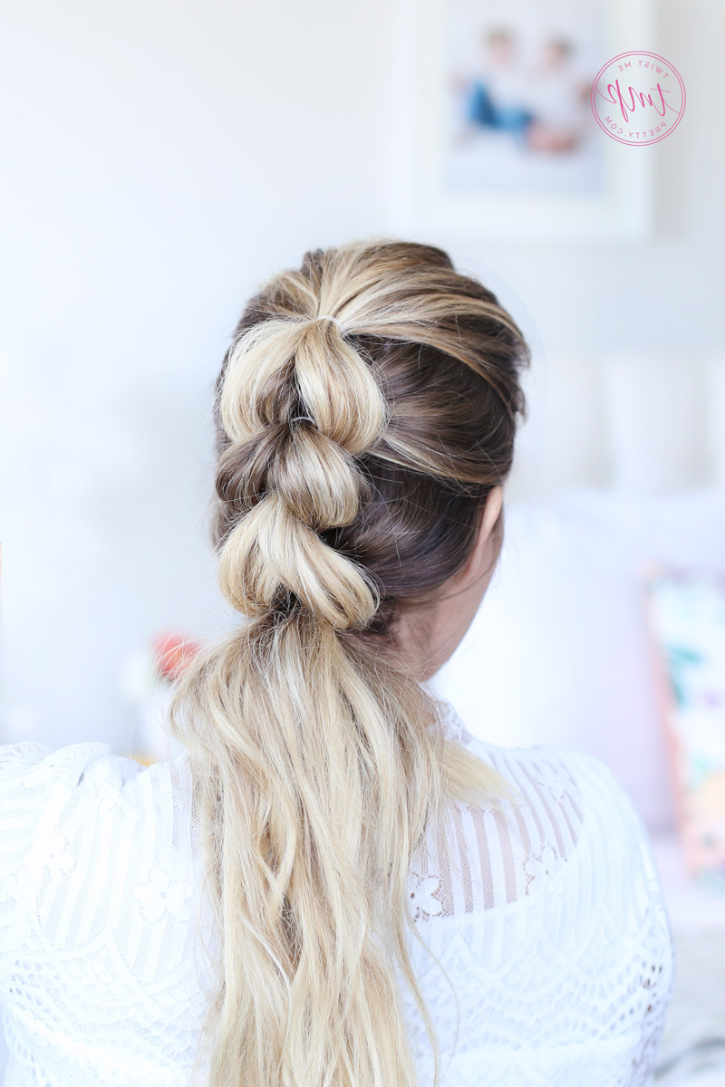 How To Do A Pull Through Braid Intended For Well Liked Pull Through Ponytail Updo Hairstyles (View 19 of 20)