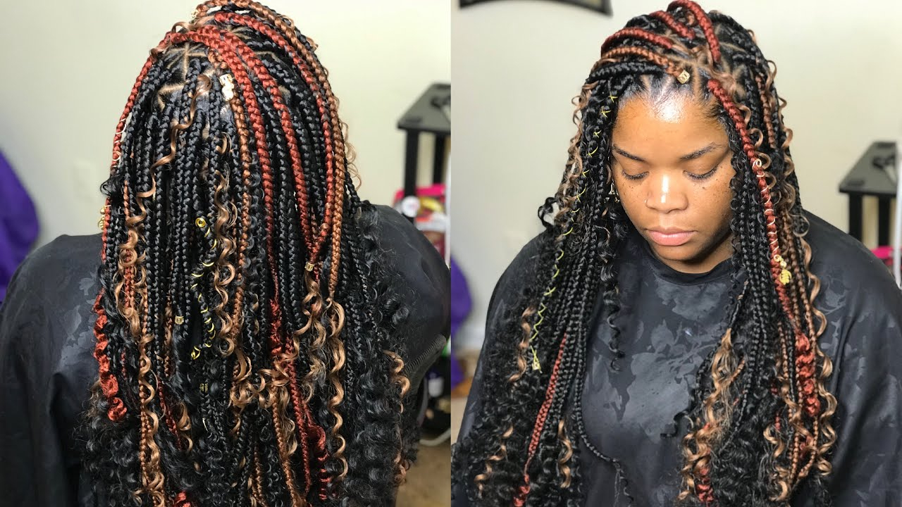 How To Do Triangle Box Braids And Curls – Very Detailed Tutorial For Most Recent Wrap Around Triangular Braided Hairstyles (View 10 of 20)