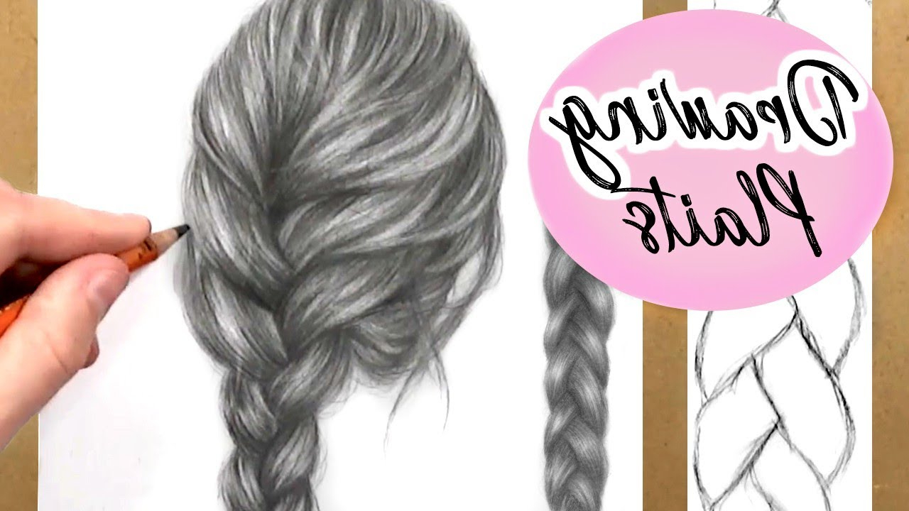 How To Draw A Plait / Braid: Hair Drawing Tutorial (View 12 of 20)