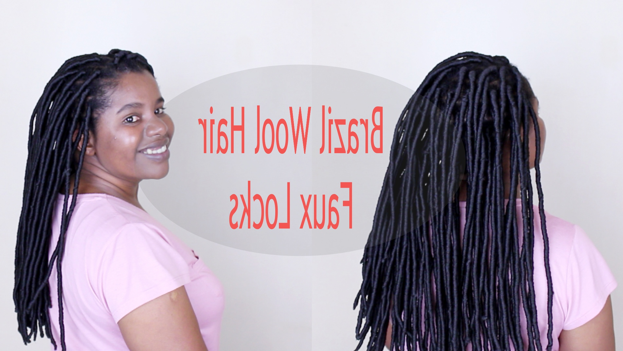 How To: Faux Locks With Brazilian Wool – Natural Sisters Regarding Most Recently Released Half Up Buns Yarn Braid Hairstyles (View 15 of 20)