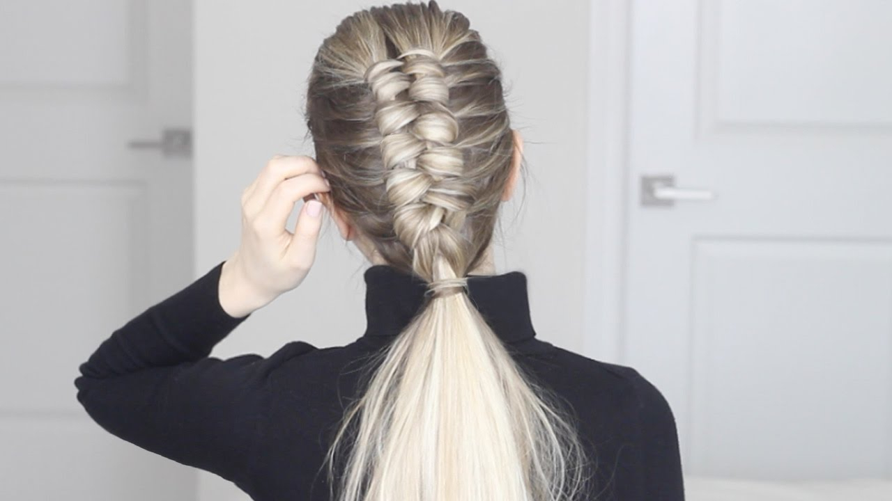 How To: Infinity Braid / Figure 8 Braid In Popular Intricate Rope Braid Ponytail Hairstyles (View 14 of 20)