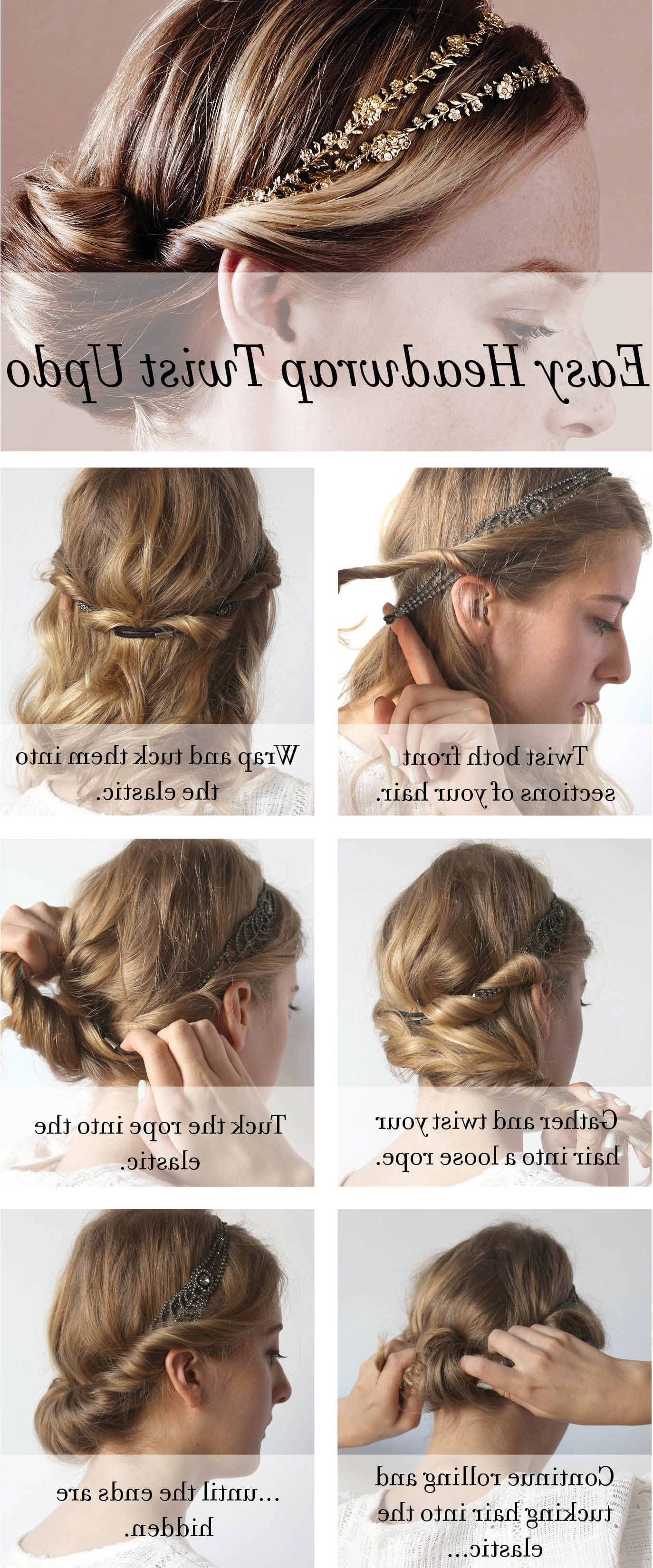 How To Make An Easy Headwrap Twist Updo With Any Of The Pertaining To Popular Loose Twist Hairstyles With Hair Wrap (View 13 of 20)